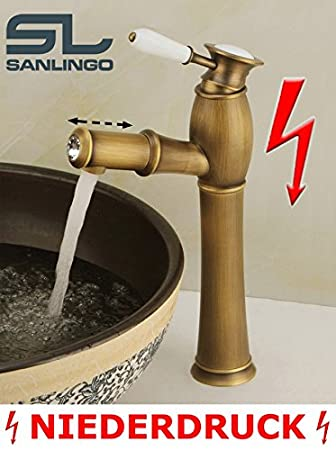 Hervorragend Niederdruck Landhaus Bad Waschschale Waschbecken Einhebel Armatur  LH26