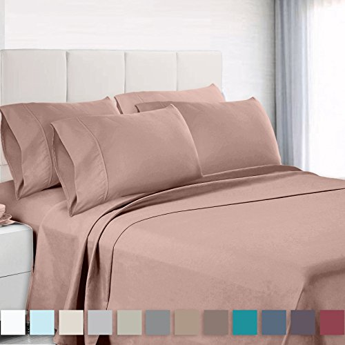 Empyrean Bedding Premium 6-Piece Bed Sheet & Pillow Case Set – Luxurious & Soft Full (Double) Size Linen, Extra Deep Pocket Super Fit Fitted Taupe Sand Sheets