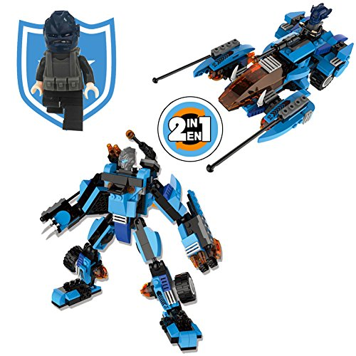 10 Transformer (Transformers Robots in Disguise:War Plane Change into Robot Warrior Action Figure Toy Building Blocks Christmas Birthday Gift for Boys 6 to 12 Year Old 295 PCS Educational Army Bricks Toy)