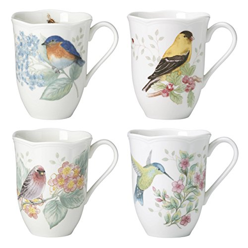Coffee Meadow Butterfly - Lenox 882795 Butterfly Meadow Flutter Mugs, Set of 4