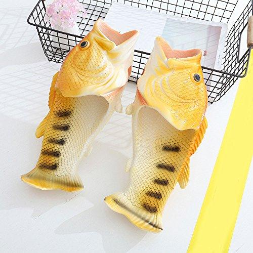 Toffel, Hatop Kreativa Unisex Fisk Dusch Tofflor Funny Beach Skor Sandaler Gul