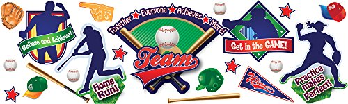 (Eureka Classroom Supplies Baseball Fun Bulletin Board Set, 36 pcs)