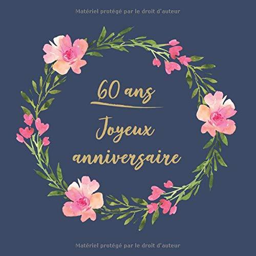 60 Ans Joyeux Anniversaire Félicitations Nous Vous