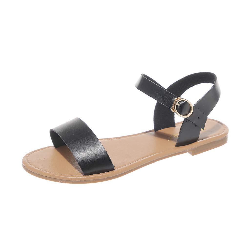 6c0986ba17e1d Amazon.com: Women's Walking Flat Sandals Comfortable Slingback ...