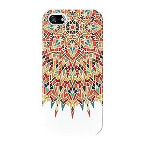 Único Mandala geométrico Colorful Patrón en color blanco Full Wrap Case, para iPhone 5/5S Impreso en 3d de alta calidad de UltraCases