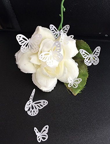 42 Pre-Cut Beautiful Edible Lace Butterflies; White; 2 Sizes; 3D Wafer Paper Birthday Wedding Etc Cake/ Cupcake Topper/Decoration