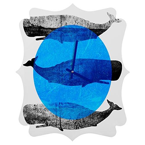 Deny Designs Elisabeth Fredriksson, Whales, Quatrefoil Clock, Medium by Deny Designs