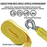 """AC-DK Trailer Winch Replacement Strap 2"""" x 20' and"""