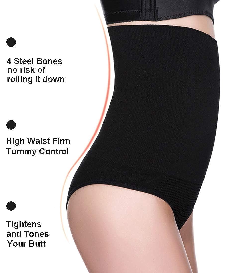 da2ec5cb511d ... AtRenee High Waist Cincher Girdle Sexy Thong Panty Tummy Control  Shapewear Slimmer Seamless Body Shaper for ...