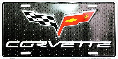 HangTime Corvette Novelty Front License Plate 6x12 Metal Car Tag