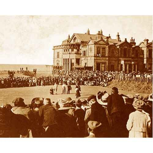 Quality digital print of a vintage photograph - 1908 Ladies' Open, St. Andrews Old Course, Scotland.Sepia Tone 11x14 inches - Matte Finish