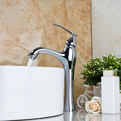 Wash Basin Italian Single Hole High Lavatory Mixing Faucet