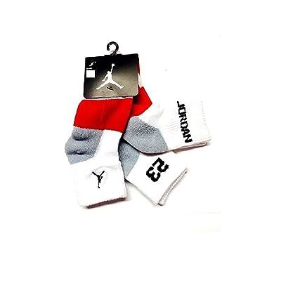 NIKE Air Jordan Boys 3Pr Quarter Socks (Youth) 5Y-7Y