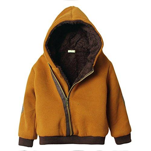 eTree Little Boys' Baby Fleece Hoodie Coats Zipper Outerwear Jackets Size 3