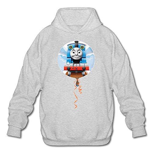 XJBD Men's Thomas And Train Attractive Sweatshirt Ash Size M