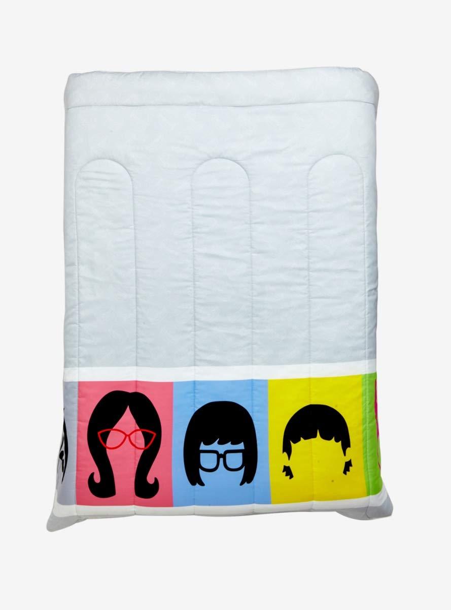 Hot Topic Bob's Burger Character Stripe Full/Queen Comforter