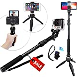 The SelfieStand Premium HD RUGGED Selfie Stick + Tripod 3-in-1 Gift Package – Universal Fit – New iPhone X, 8/7/6 Plus, GoPro Hero 6/5, Samsung S8+ & Camera PLUS Bluetooth Remote w/ Pole Mount