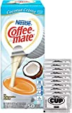 #4: Coffee Mate .375 Ounce Single Serve Liquid Creamer, 50 Count Box Coconut Crème with By The Cup Sugar Packets