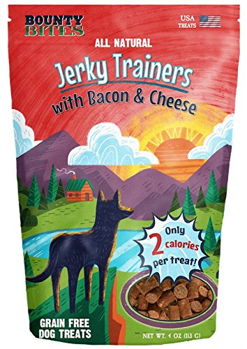 Bounty Bites Jerky Trainers with Bacon & Cheese - Soft USA Made Whole Food Benefit Meaty Low Calorie Training Treats 4 ()