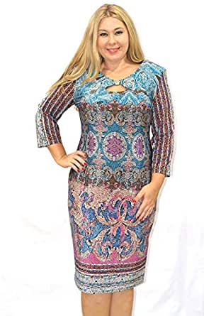 Modis Fashion Women's Dress Model 818 63 (blue, Eu 50)