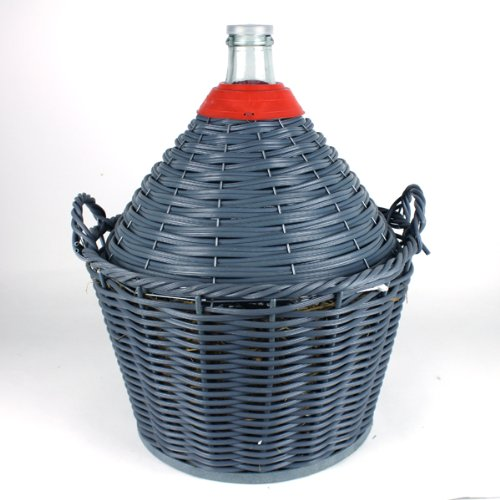 28 litre Demijohn/carboy with basket Narrow Mouth Dowricks Goodlife