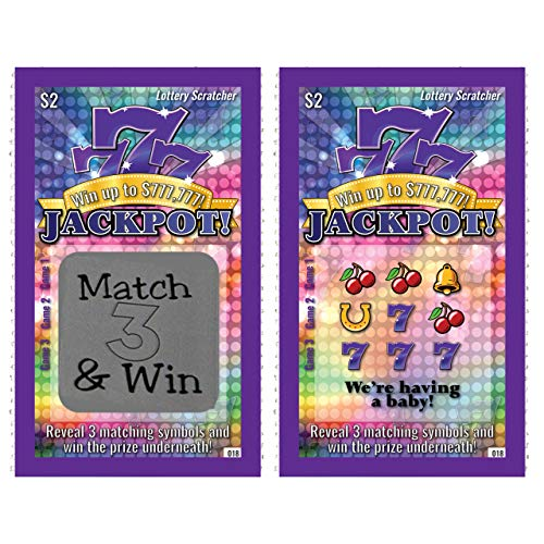(Pregnancy Announcement Scratch-Off Lottery Tickets, New Baby Game, 5 Cards My Scratch Offs)