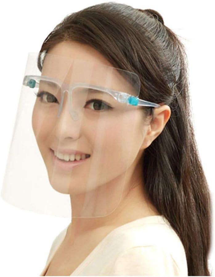 TOPBATHY 8 Piezas Protector Facial Cara Completa Visera Protectora Cubierta Facial Anti-Escupir Película Protectora Anti-Saliva para Médicos Médicos del Hospital Protección de Aislamiento
