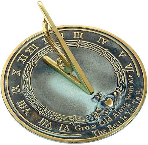 NauticalMart Brass Sundial Grow Old with Me
