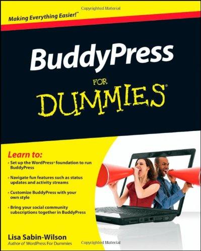 BuddyPress For Dummies by Lisa Sabin-Wilson, For Dummies