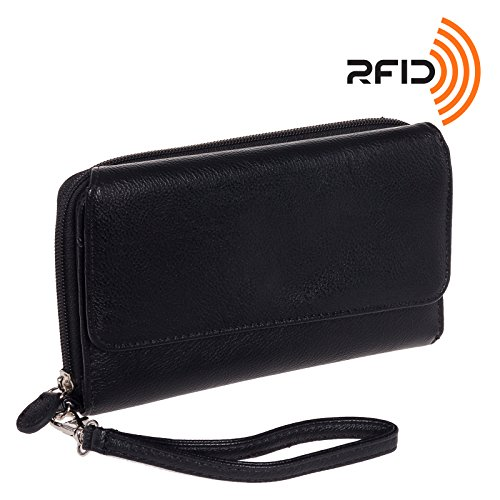 Mundi Womens My Big Fat RFID Wallet Clutch w/ Wrist Strap...
