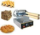 Eggettes Bubble Puffle Waffle Maker - Electric Stainless Steel Non Stick Pan Egg Puff Grill Machine 110V