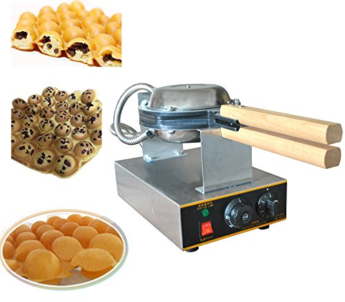 Electric Stainless Steel Egg Waffle Maker Make Machine Non-Stick Pan Egg Cake Oven by Sican