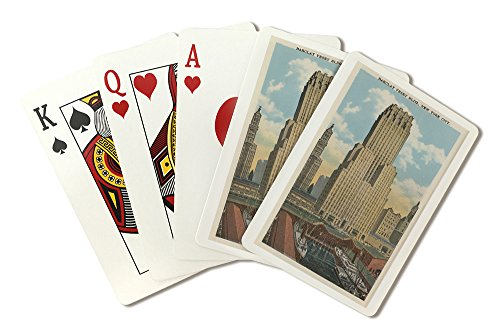 New York, NY - Barclay Vesey Building (Playing Card Deck - 52 Card Poker Size with Jokers)