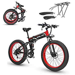Mountain Bicycles 26 Ebike 48V 1000W Fat Tire Folding Electric Bike Removable Lithium Battery Beach Snow Bicycle Electric Moped