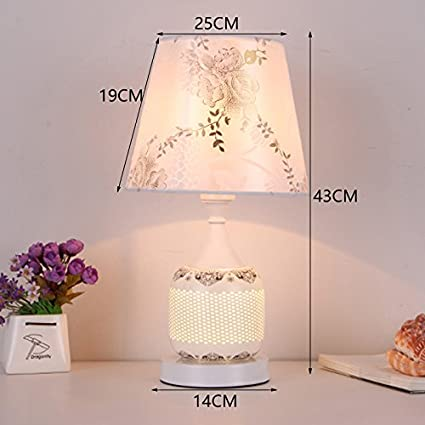 Ceramic Table Lamp Bedroom Bedside Cabinet Lamp Up And Down Two
