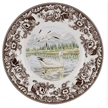 Spode Woodland- Snow Goose Dinner Plate