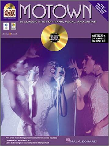 Amazon Motown CD ROM Sheet Music 50 Classic Hits For Piano Vocal Guitar 9780634053542 Various Books