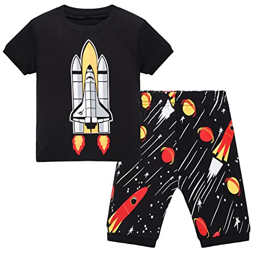 Schmoopy Boys Pajamas with Rocket for Toddler and Little Kid Boys Size 6 Years