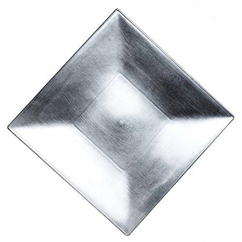 BalsaCircle 6 pcs 12' Square Charger Plates - Silver