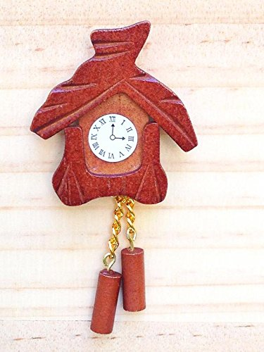 My Fairy Gardens Miniature Accessories - Wood Wooden Cuckoo Clock - Mini Dollhouse Supply Expressions