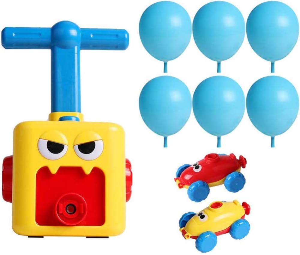 basku Enfants Inertia Ballon Voiture Jouet,Power Voiture De Lancement Propuls/éE par Ballon avec 12Ballons Educational Science DIY Toy pour Les Enfants Cadeaux Jeux Enfants Gar/çOns Filles