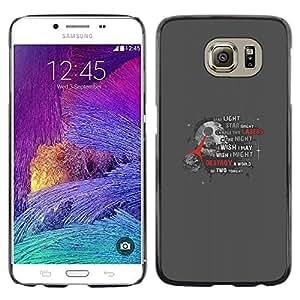 EJOY---Cubierta de la caja de protección la piel dura para el / Samsung Galaxy S6 / --Estrella de la Muerte