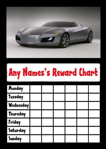 Sports Car Star Sticker Reward - Sports Chart Incentive