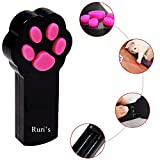 Cat Catch the Interactive LED Light Pointer Paw Style Cat Toys Red Pot Exercise Chaser Toy Pet Scratching Training Tool By Ruri's (Black)