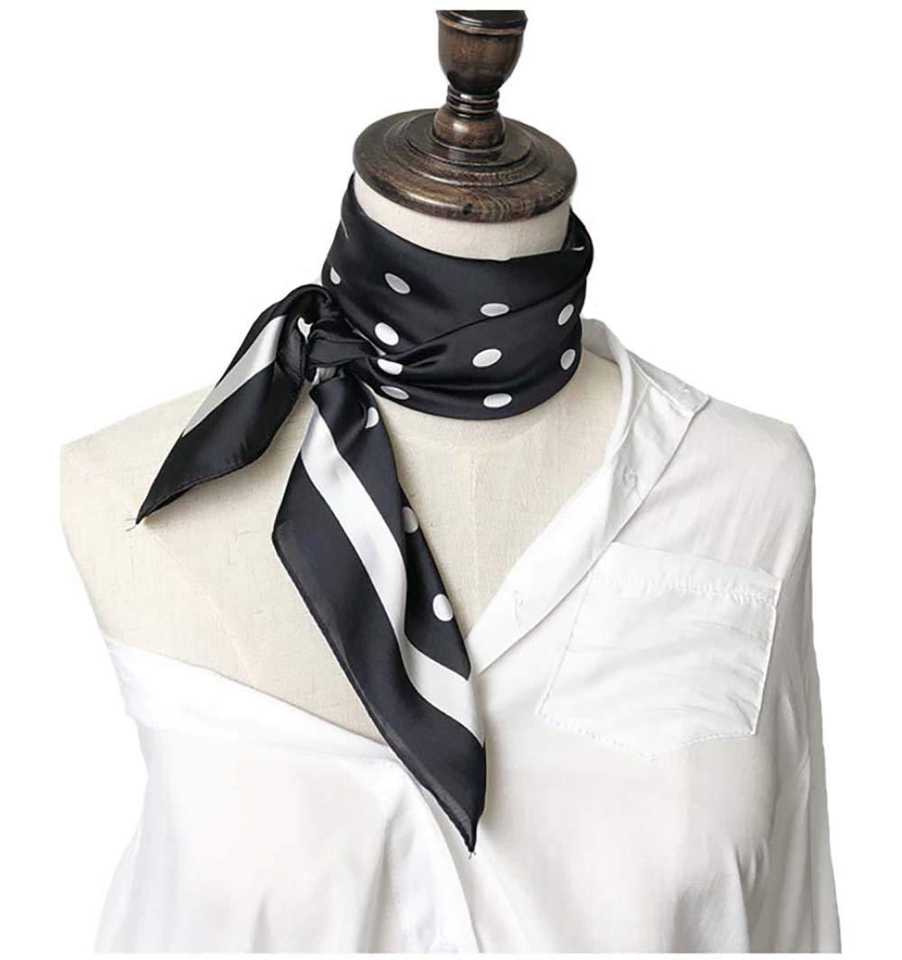 Silk Scarf Square Satin Headscarf Women's Fashion Scarfs Neckerchief Neck Tie