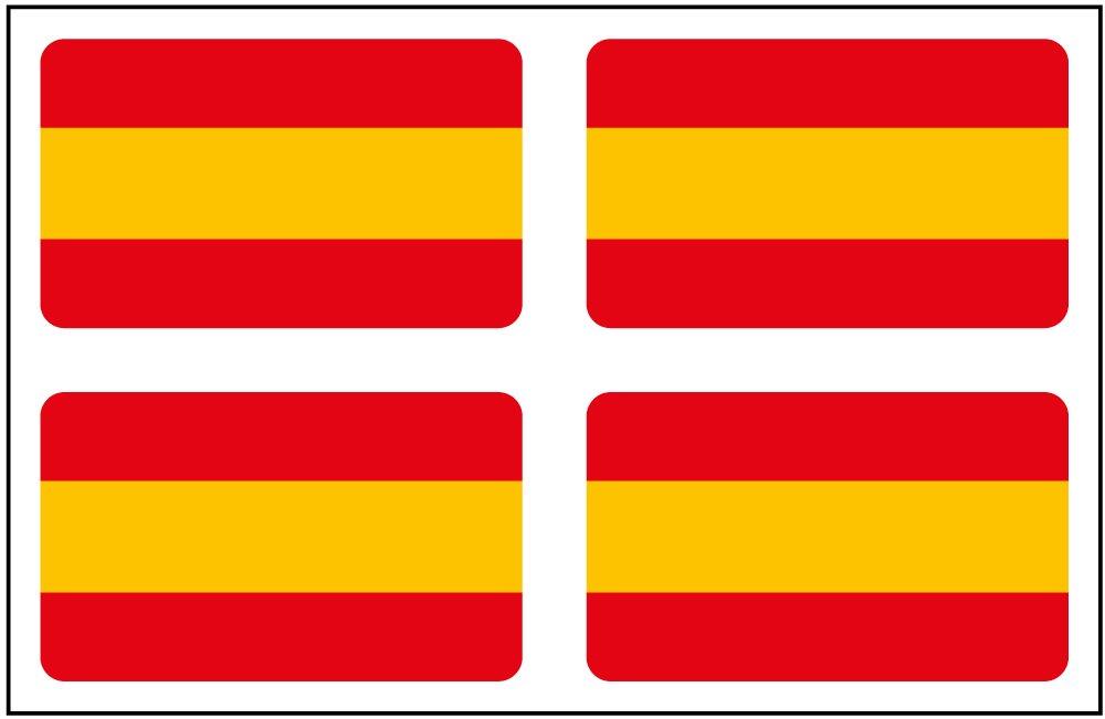 Artimagen Pegatina Bandera Rectá ngulo 4 uds. Españ a 30x18 mm/ud. Ediciones Imagina S.L.
