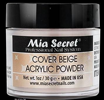 Mia Secret Cover Beige Acrylic Powder 1oz Acrylic Powders & Liquids Free Shipping
