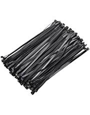 OneLeaf Cable Ties 12 Inch Heavy Duty Zip Ties with 120 Pounds Tensile Strength for Multi-Purpose Use, Self-Locking UV Resistant Nylon Tie Wraps, Indoor and Outdoor Tie Wire.Black, 100 Pcs