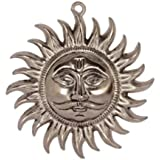 eCraftIndia Decorative Sun Wall Hanging (20 cm x 2.5 cm x 20 cm, Silver)