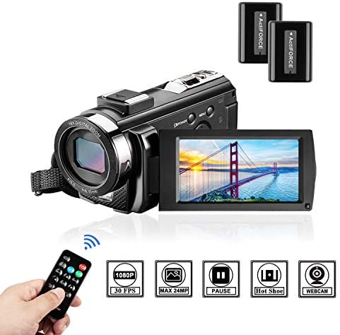 Camcorder Vloggaing Recorder Screen16X Batteries product image